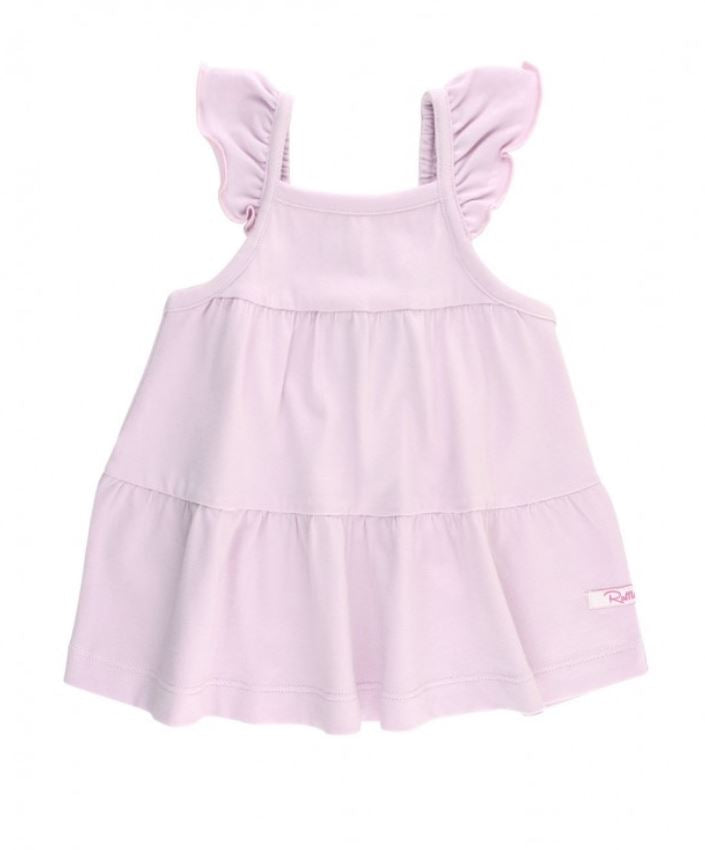 RuffleButts Soft Lilac Tiered Tank Top (12-18M to 6 Kids) - Elegant Mommy