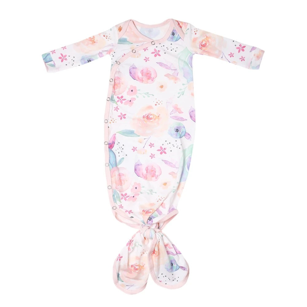 Bloom Newborn Knotted Gown - Elegant Mommy