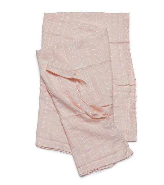 LouLou Lollipop Pink Mudcloth Swaddle - Elegant Mommy