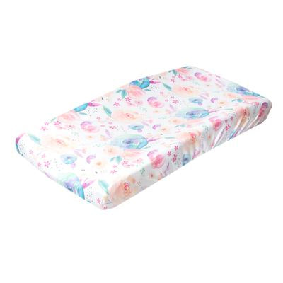Copper Pearl : Changing Pad Cover Bloom - Elegant Mommy