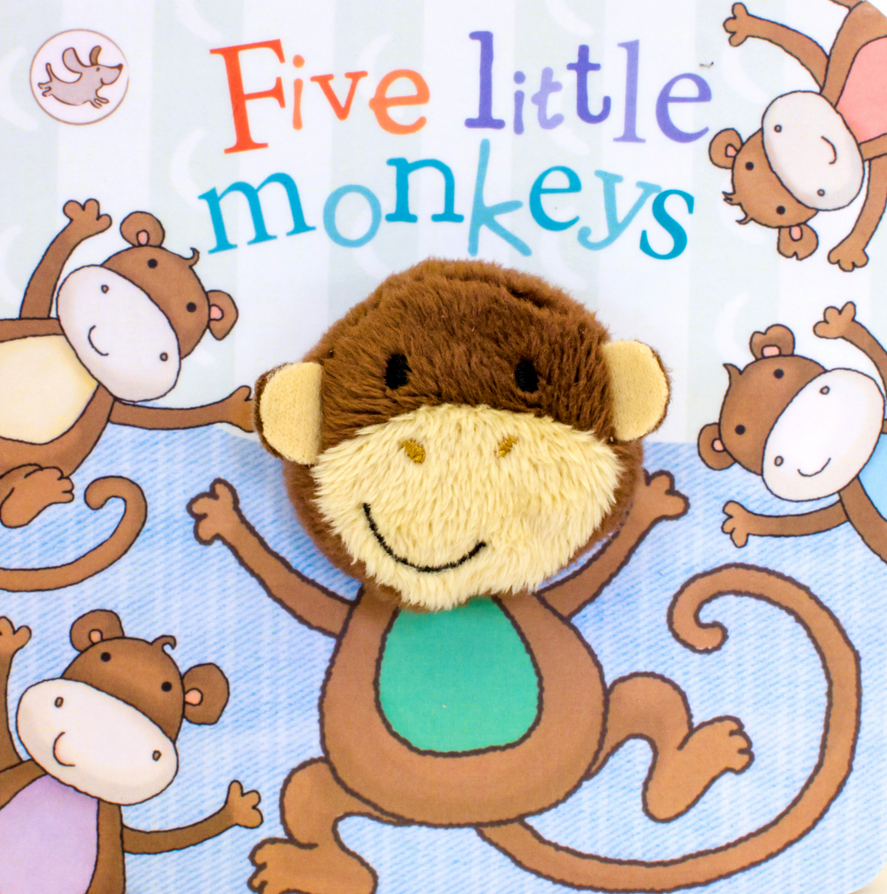 Five Little Monkeys Puppet Book - Elegant Mommy