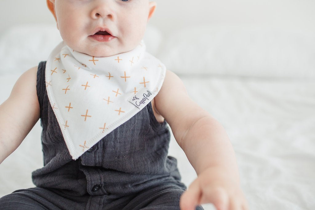 Copper Pearl Chip Bibs - Elegant Mommy
