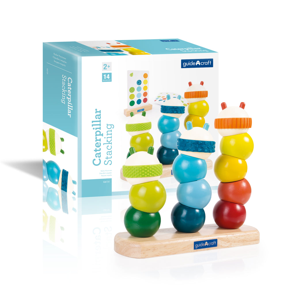 Guidecraft Caterpillar Stacking - Elegant Mommy