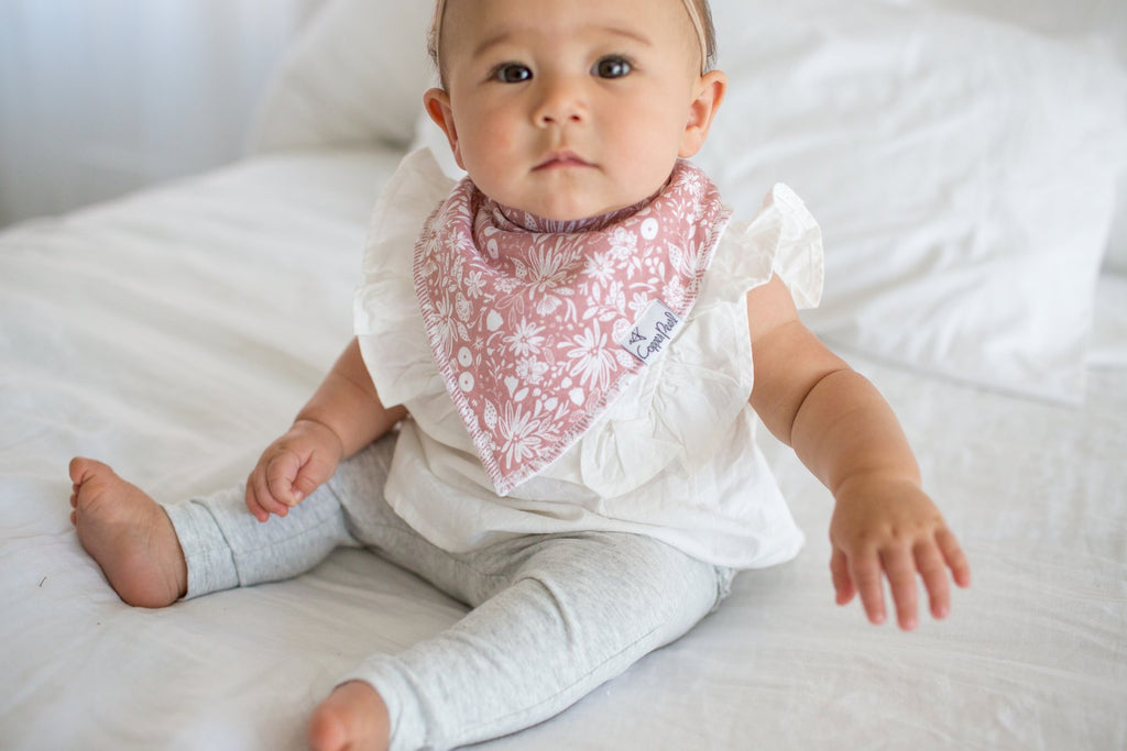 Copper Pearl Olive Bibs - Elegant Mommy