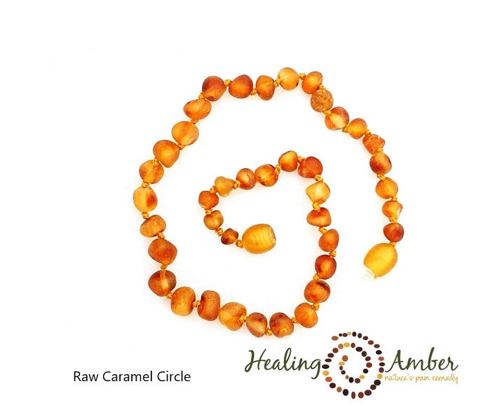 Healing Amber: Child Amber Necklace 15in