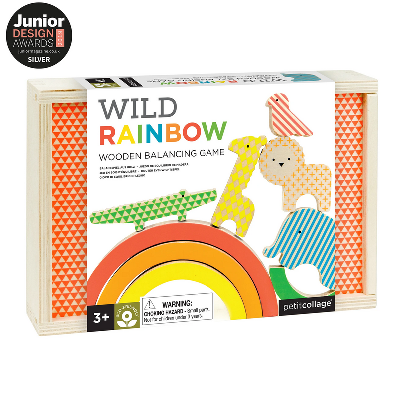 Wooden Balancing Game - Wild Rainbow - Elegant Mommy