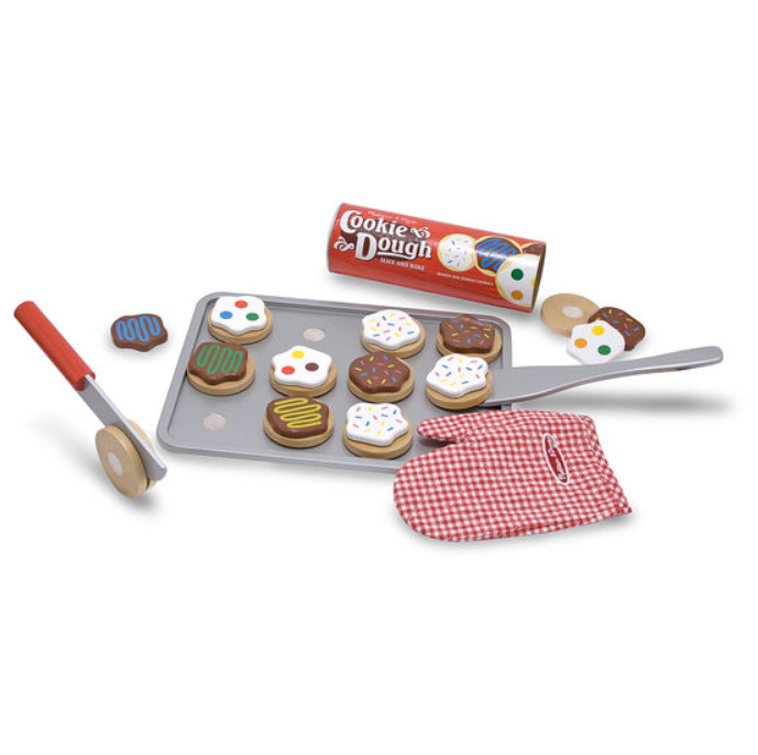Slice + Bake Wooden Cookie Set - Elegant Mommy