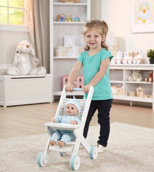 Wooden Play Stroller - Elegant Mommy