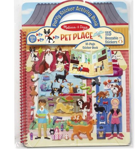 M&D Pet Place Puffy Sticker Activity Book - Elegant Mommy