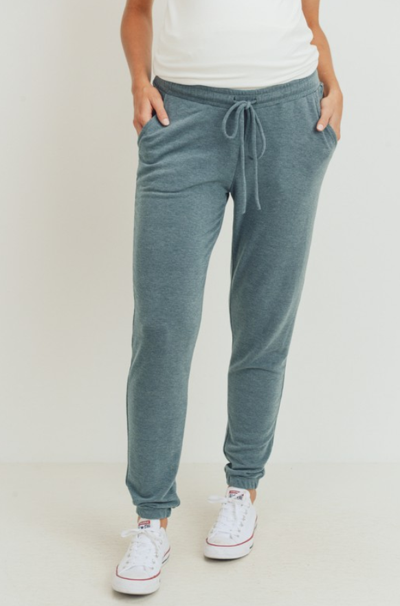 Teal Maternity Sweat Pants