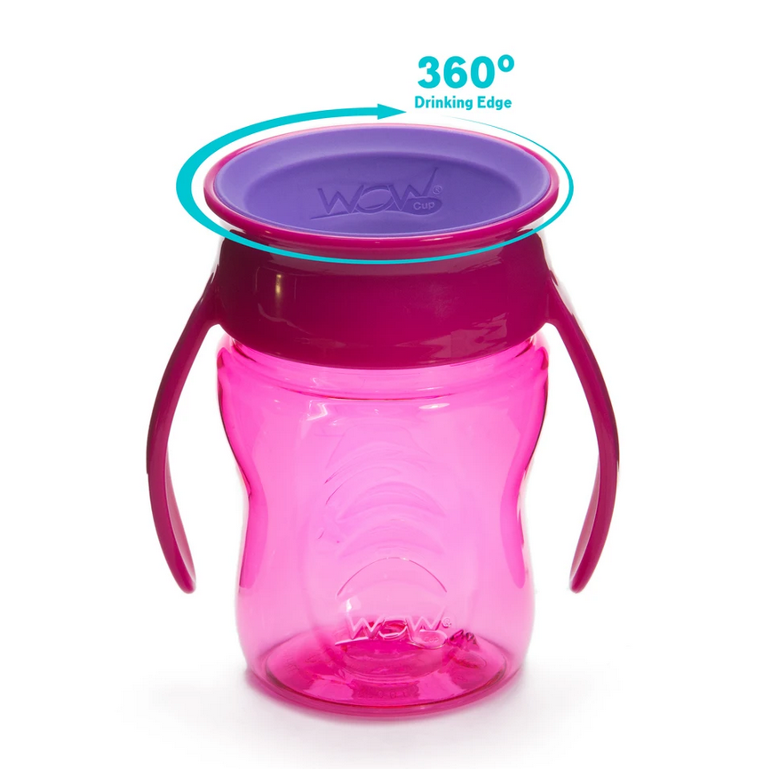 WOW CUP for Baby 360 Transition Cup - Pink, 7 oz. - Elegant Mommy