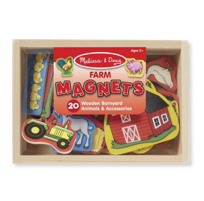 Wooden Farm Magnets - Elegant Mommy