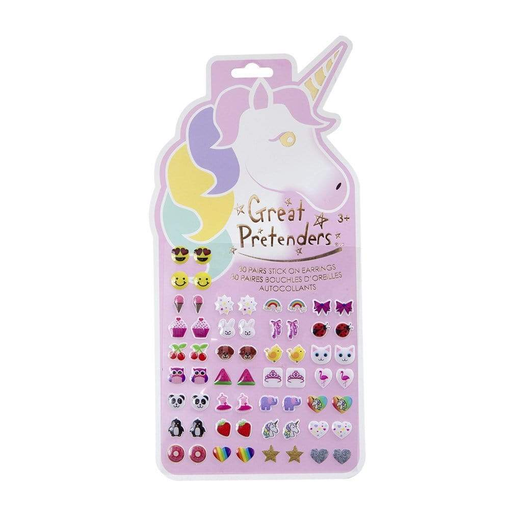 Unicorn Sticker Earrings, 30 Pairs - Elegant Mommy