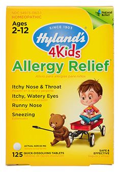 Hyland's 4 Kids Allergy Relief 125 quick-dissolving tablets - Elegant Mommy