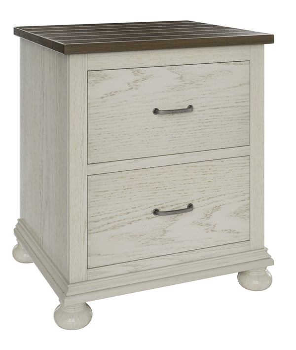 Amish Hickory Grove Two Drawer Nightstand