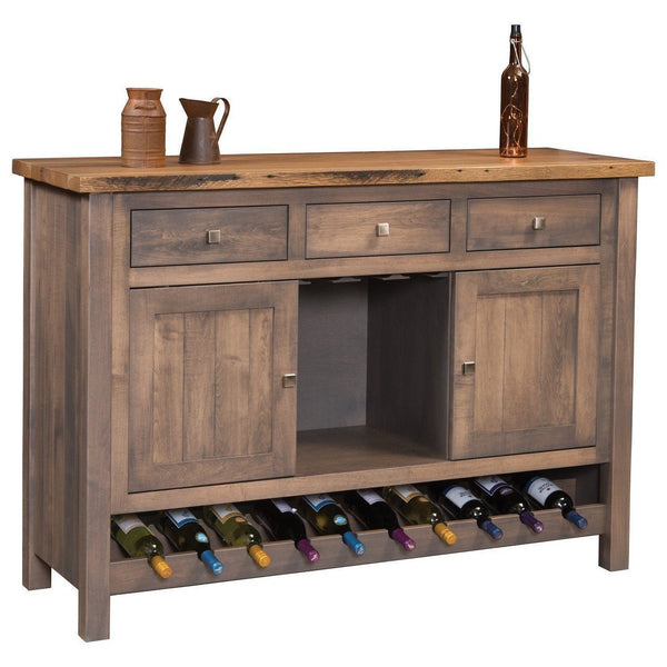 Adele Reclaimed Top & Wine Cabinet Buffet