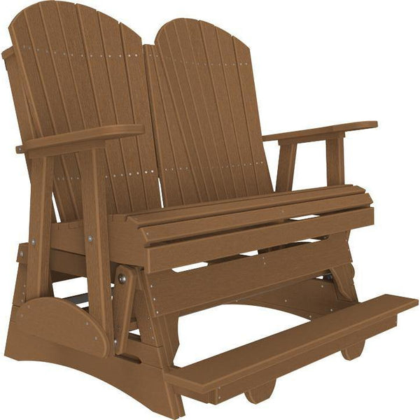 4' Adirondack Balcony Glider Antique Mahogany-The Amish House