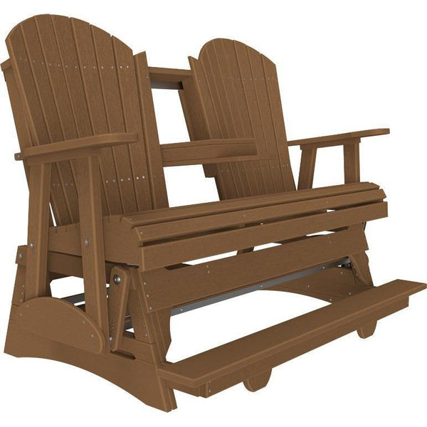 5' Adirondack Balcony Glider Antique Mahogany-The Amish House