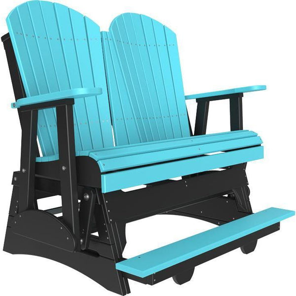 4' Adirondack Balcony Glider Aruba Blue & Black-The Amish House