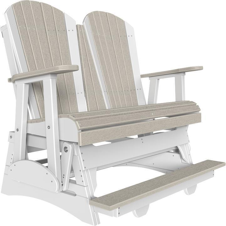 4' Adirondack Balcony Glider Birch White-The Amish House