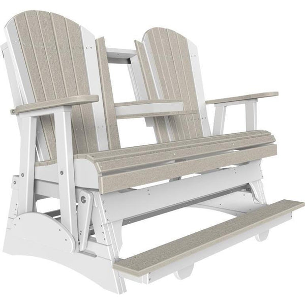 5' Adirondack Balcony Glider Birch & White-The Amish House