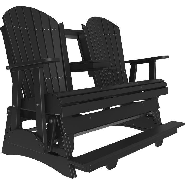 5' Adirondack Balcony Glider Black-The Amish House
