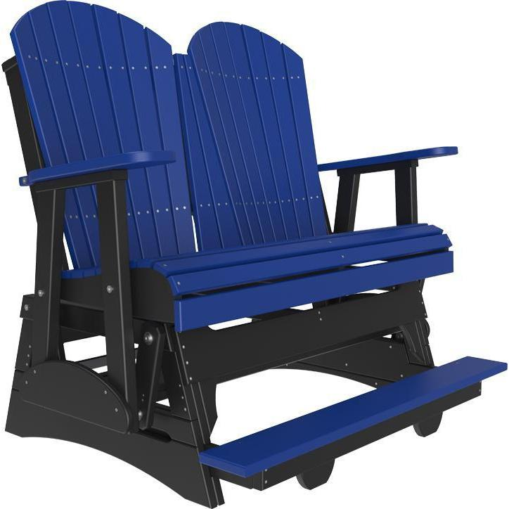 4' Adirondack Balcony Glider Blue & Black-The Amish House
