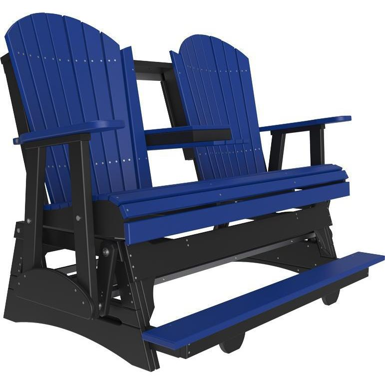 5' Adirondack Balcony Glider Blue & Black-The Amish House