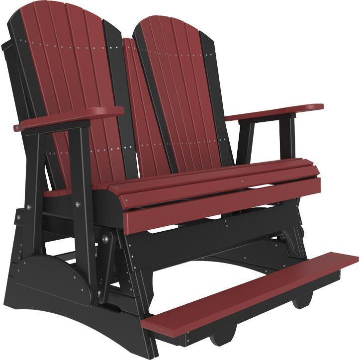 4' Adirondack Balcony Glider Cherrywood Black-The Amish House