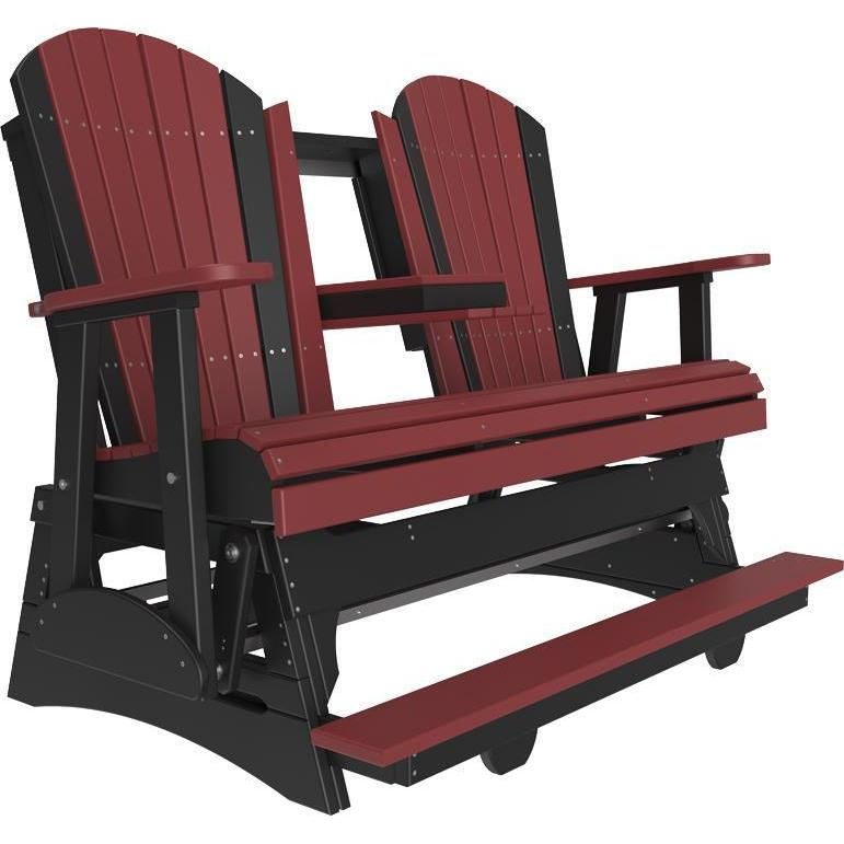 5' Adirondack Balcony Glider Cherrywood & Black-The Amish House