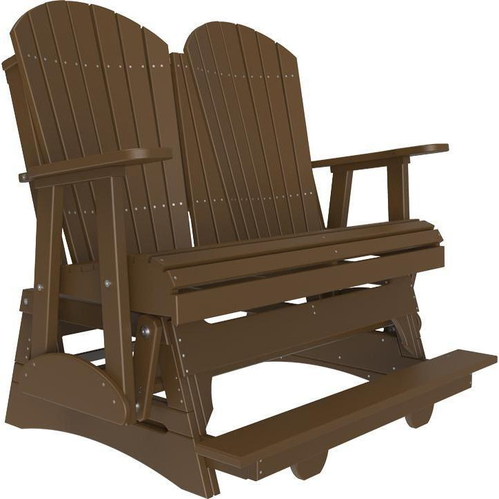 4' Adirondack Balcony Glider Chestnut Brown-The Amish House