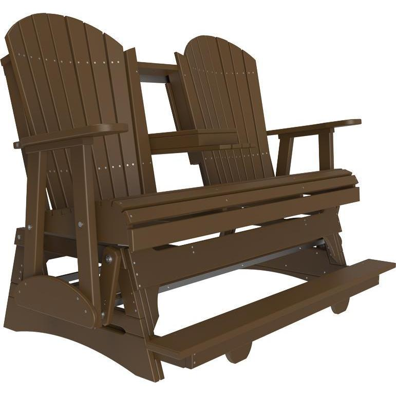5' Adirondack Balcony Glider Chestnut Brown-The Amish House