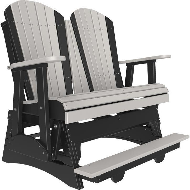 4' Adirondack Balcony Glider Dove Gray & Black-The Amish House