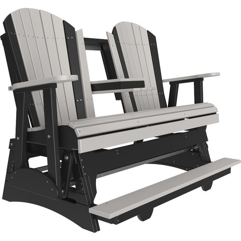 5' Adirondack Balcony Glider Dove Gray & Black-The Amish House