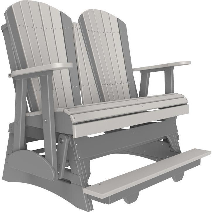 4' Adirondack Balcony Glider Dove Gray & Slate-The Amish House