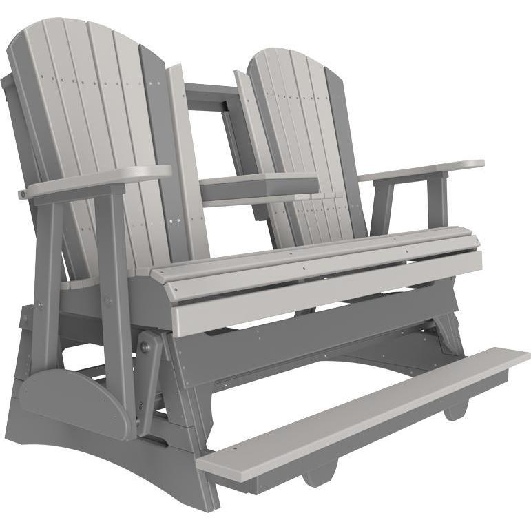 5' Adirondack Balcony Glider Dove Gray & Slate-The Amish House