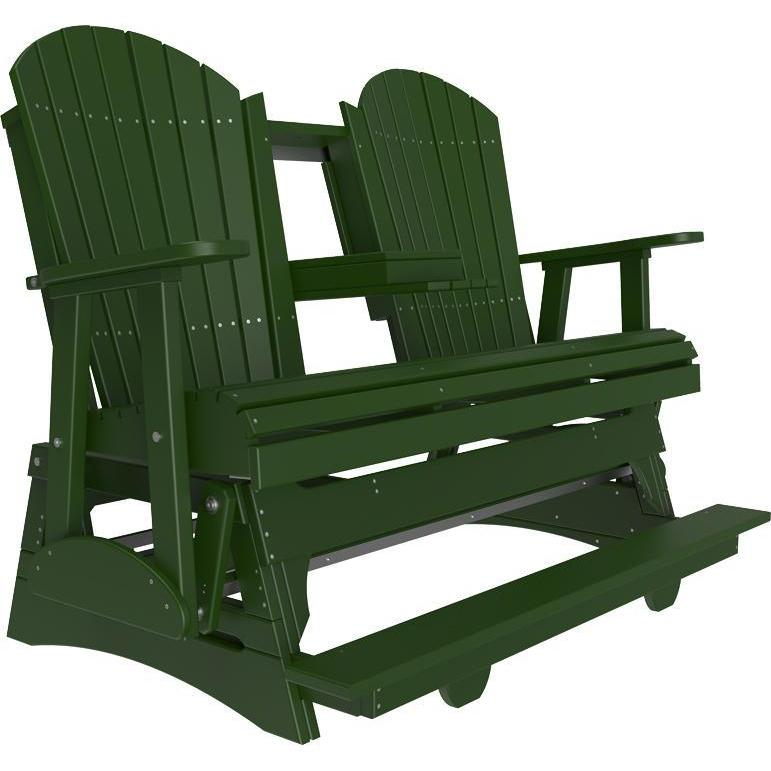 5' Adirondack Balcony Glider Green-The Amish House