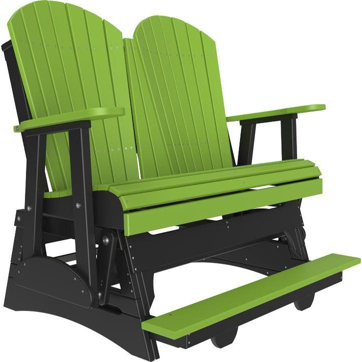 4' Adirondack Balcony Glider Lime Green Black-The Amish House