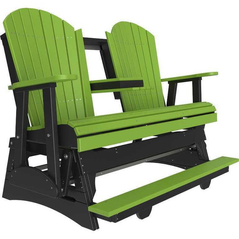 5' Adirondack Balcony Glider Lime Green & Black-The Amish House