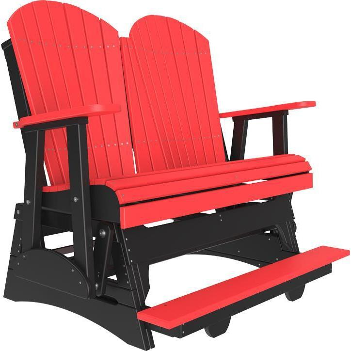 4' Adirondack Balcony Glider Red Black-The Amish House