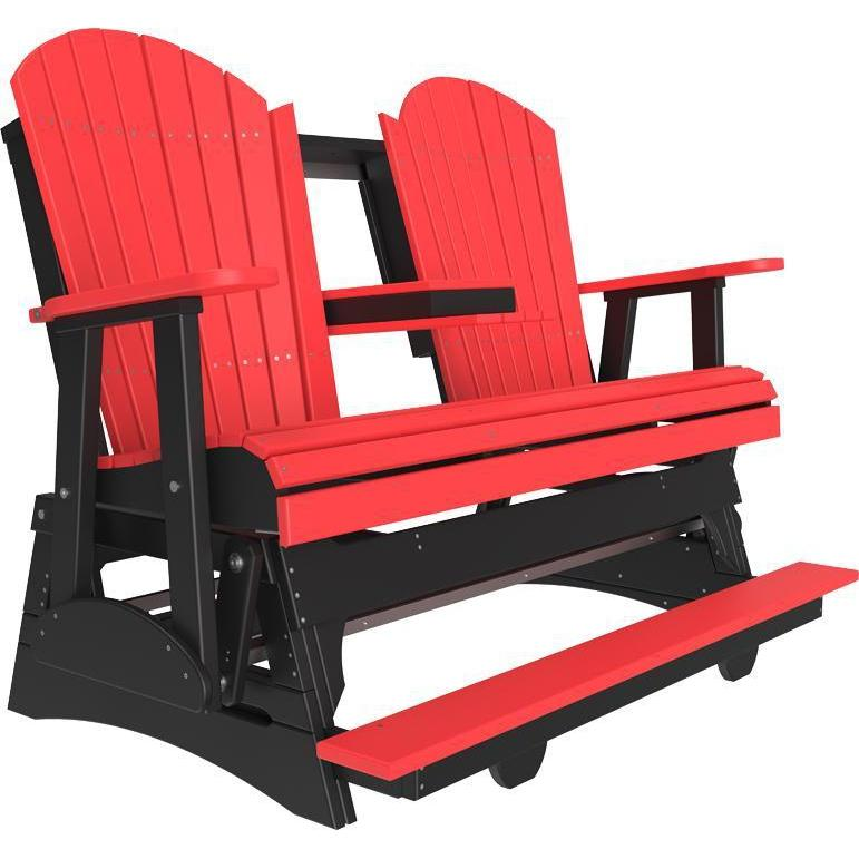 5' Adirondack Balcony Glider Red & Black-The Amish House