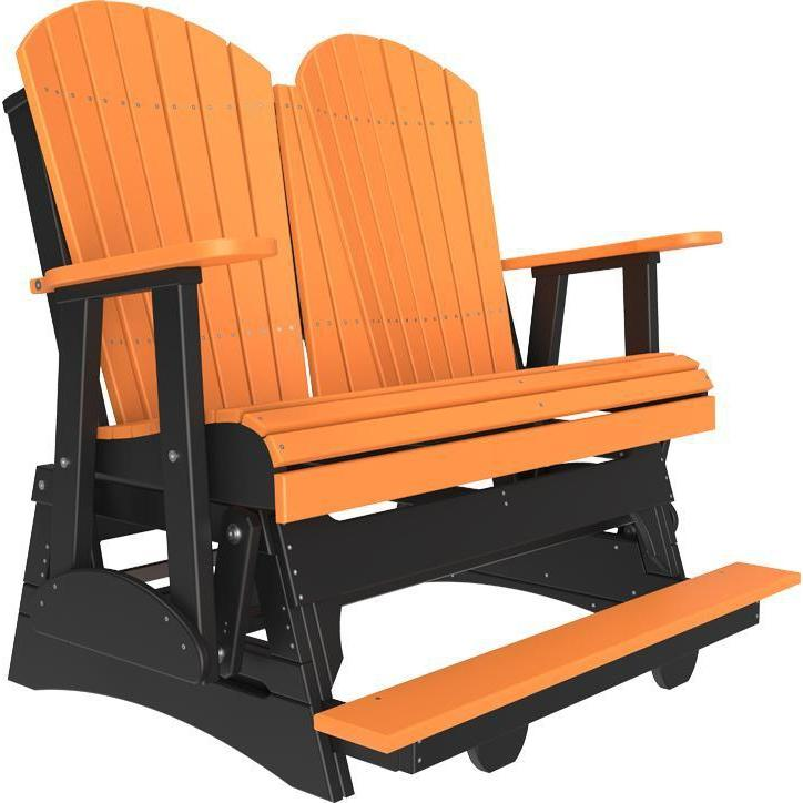 4' Adirondack Balcony Glider Tangerine Black-The Amish House