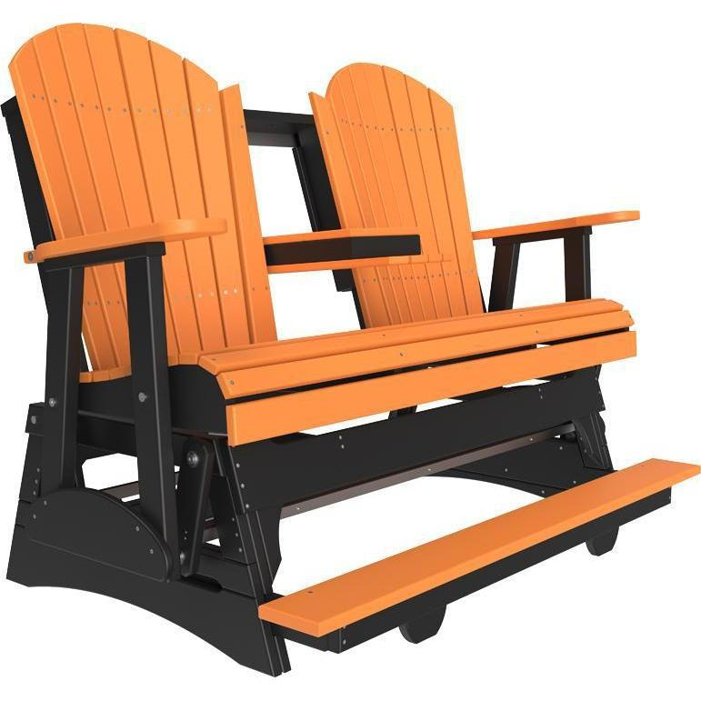 5' Adirondack Balcony Glider Tangerine & Black-The Amish House