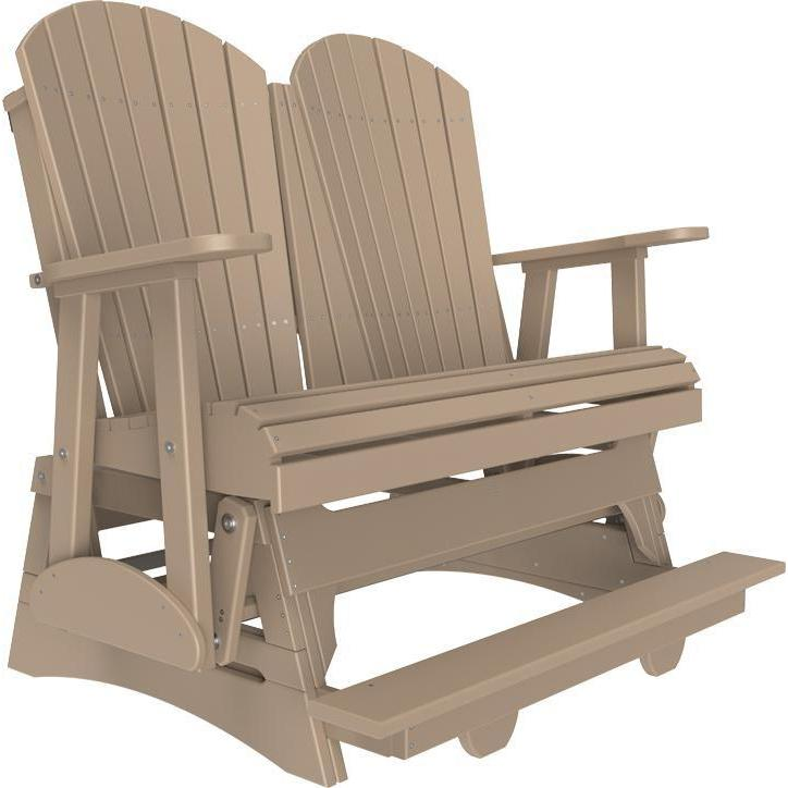 4' Adirondack Balcony Glider Weatherwood-The Amish House