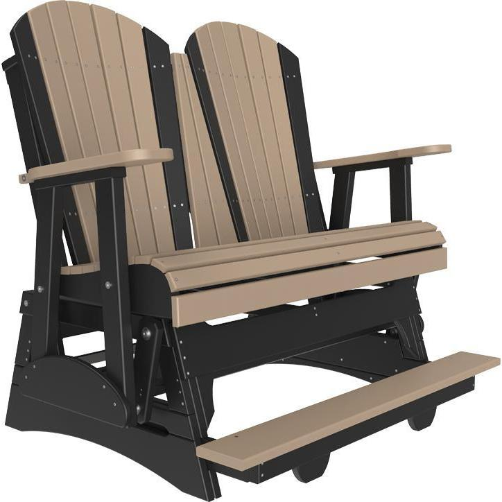4' Adirondack Balcony Glider Weatherwood Black-The Amish House