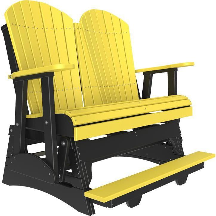 4' Adirondack Balcony Glider Yellow Black-The Amish House