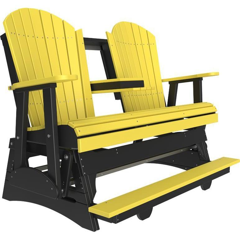5' Adirondack Balcony Glider Yellow & Black-The Amish House