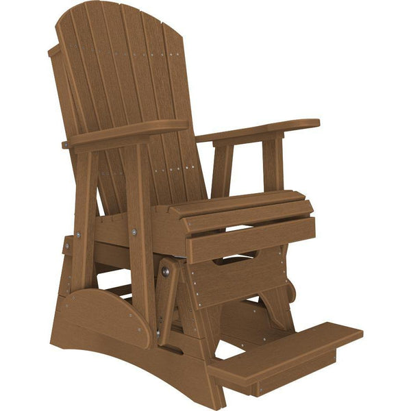 2' Adirondack Balcony Glider Antique Mahogany-The Amish House
