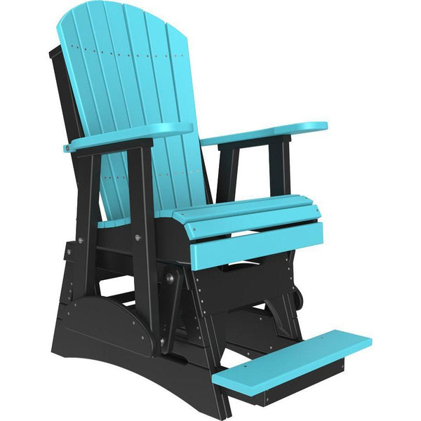 2' Adirondack Balcony Glider Aruba Blue & Black-The Amish House