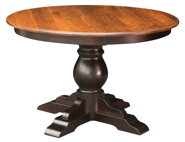 Albany Single Pedestal Dining Table-The Amish House